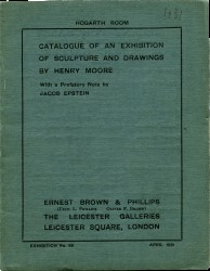 Henry Moore Exhibition Catalogue, Leicester Galleries, London, 1931 Spread 0 recto