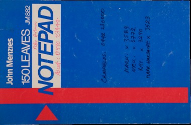 Helen Chadwick (1953-1996)  Notebook on 'Viral Landscapes' Spread 0 cover