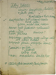 Helen Chadwick (1953-1996)  Notebook on early work Spread 1 recto